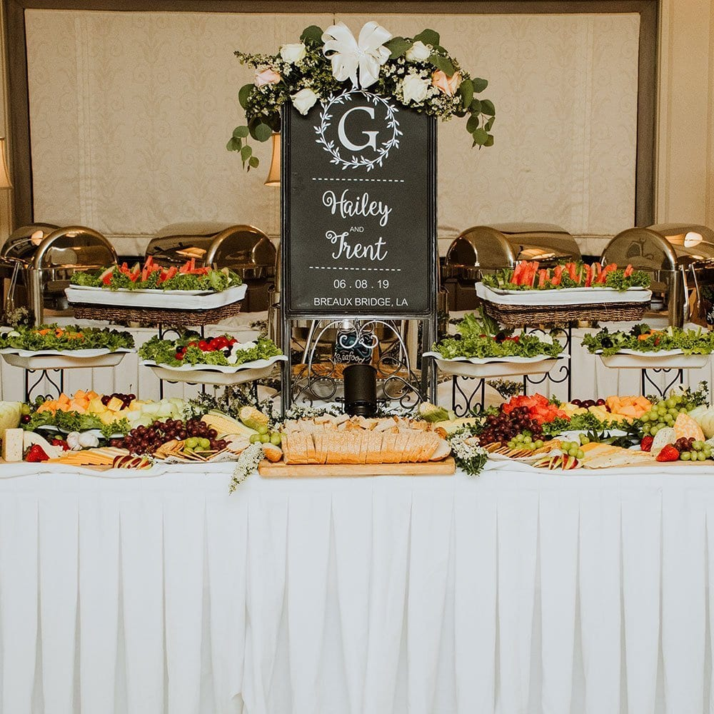 poche bridge country club catering selection menu choices